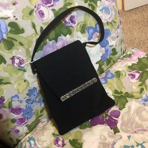 Very Vintage Black Velvet Evening Bag